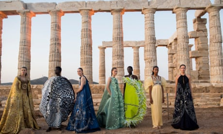 Mary Katrantzou: SS20 fashion show at Greece's Temple of Poseidon – in pictures