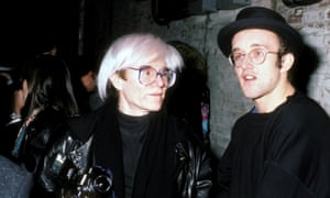 Andy Warhol and Keith Haring at the Tunnel's grand opening Celebration in 1986.