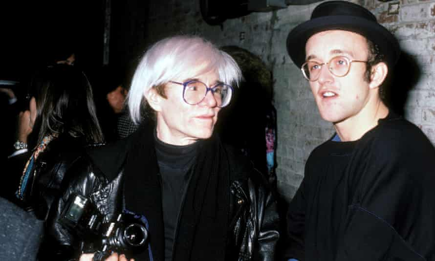 Andy Warhol and Keith Haring att The Tunnel Nightclub in 1986.