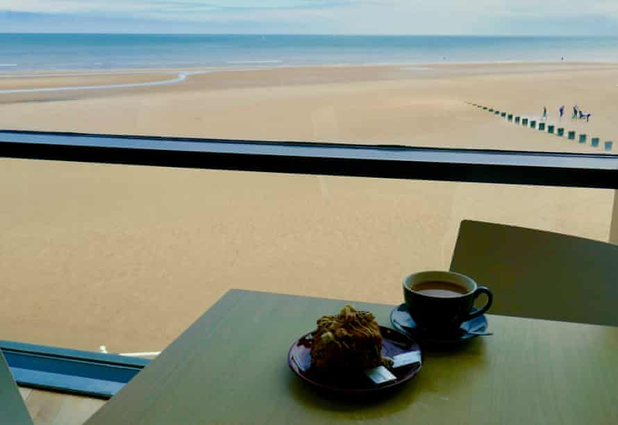 Scone with a view at Brid Spa.