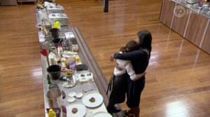 Georgia hugged her mother