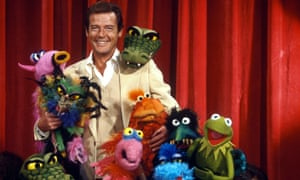 Roger Moore appears on 'The Muppet Show' at the height of his Bond fame.