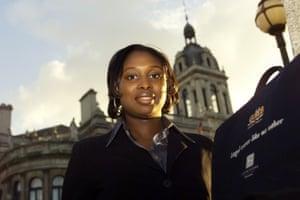 Dawn Butler in her days as a GMB organiser