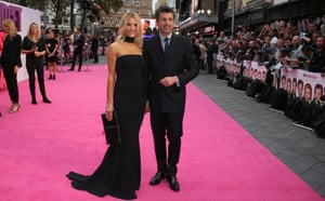 Actor Patrick Dempsey and his wife Jillian Fink pose for photographers upon arrival.
