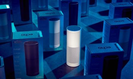 Amazon Echo voice-controlled speakers