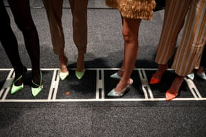 Sydney, Australia Models wait backstage ahead of the Alice McCall show during Mercedes-Benz Fashion Week Australia