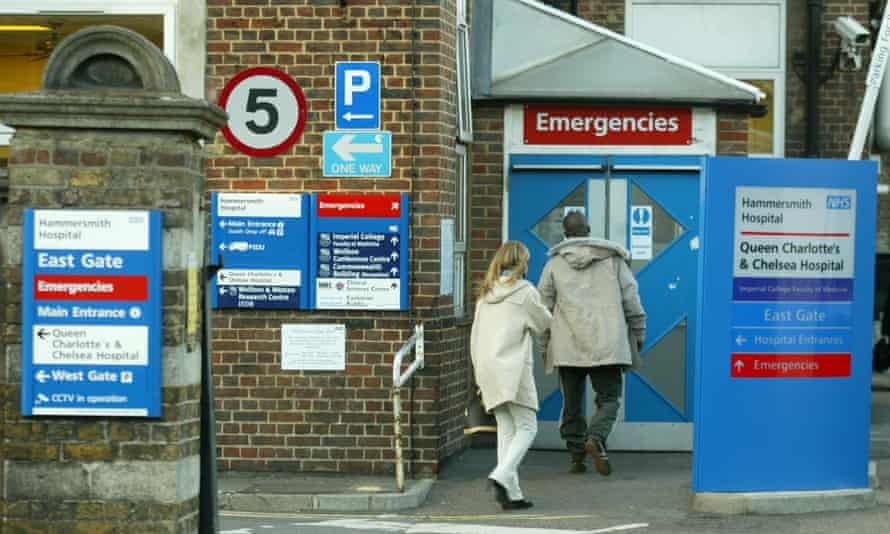 Hammersmith Hospital accident and emergency department entrance