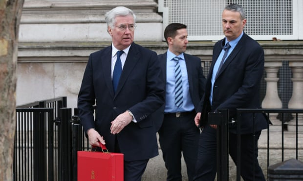 Michael Fallon leaves Downing Street on Thursday