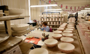 Pottery factory in Stoke, a leave constituency. Ceramics would face steep tariffs under WTO rules.