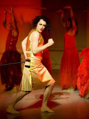'Very fetching' … Alan Cumming as the gold-kilted Dionysus in The Bacchae in Edinburgh in 2007.