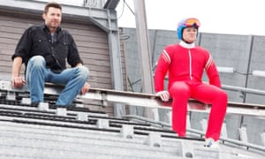 That's what you've got to look forward to … Hugh Jackman and Taron Egerton in Eddie the Eagle.