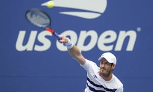 Andy Murray serves to Yoshihito Nishioka.