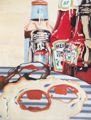 The Greasy Spoon by Katie Shepherd, 16, a GCSE student at Jumeirah College, Dubai. She says: 'When focusing on a topic for my coursework, I wanted to look at the attractiveness of food, and to incorporate mixed media. I wanted my viewers to see three dimension and reflection in the condiment jars as they overlapped each other.'