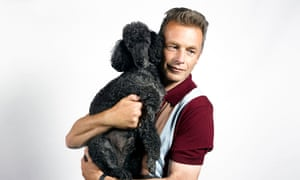 Chris Packham with an animal friend