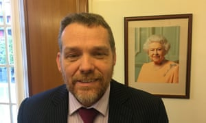 Darren Rodwell in his Barking Town Hall office.