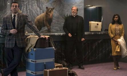 Jon Hamm, Jeff Bridges and Cynthia Erivo in Bad Times at the El Royale.