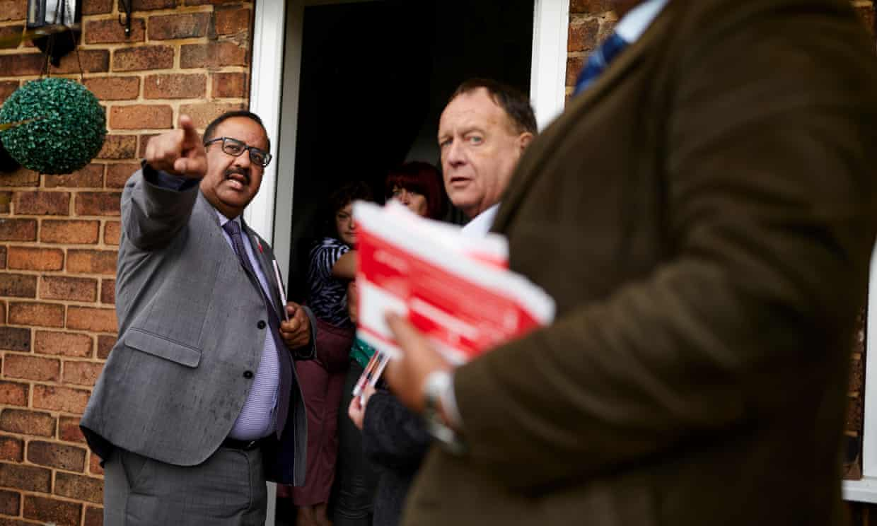 Councillor Mohammed Pervez (left) from the Labour party in Stoke