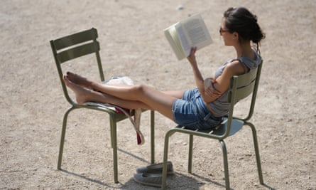 Girl reading in sun