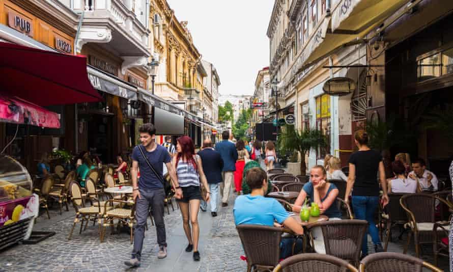 A street in Bucharest, Romania