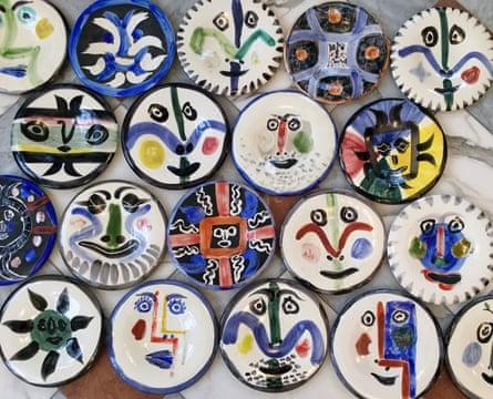 Child-friendly moment … Picasso's visage plates, 1963.