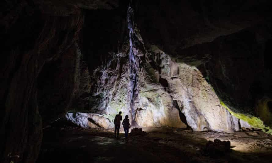The Bacho Kiro cave in Bulgaria. The research is based on analysis of several ancient human remains – including a whole tooth and bone fragments – found in a cave in Bulgaria last year.