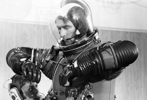 One last fitting … astronaut Eugene Cernan.