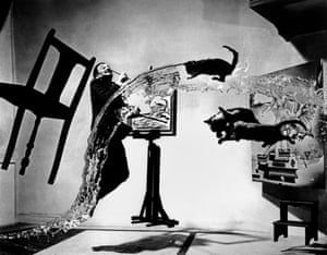 "Spanish painter Salvador DALI. ""Dali Atomicus."" 1948 © Philippe Halsman/Magnum Photos"