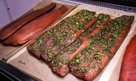 cut salmon