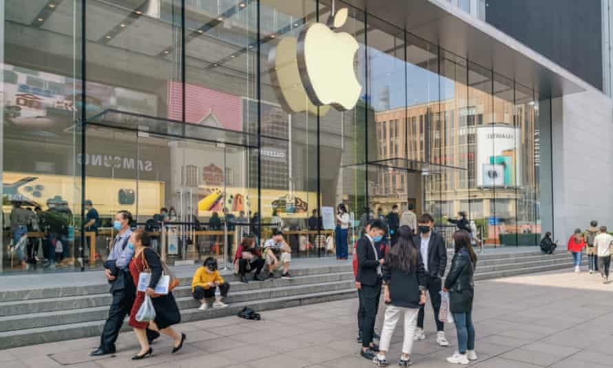 An Apple store in Shanghai. The company has drawn criticism for its perceived closeness to Chinese authorities.