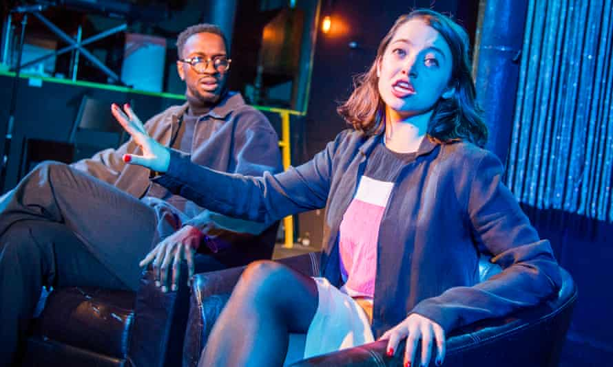 Zephryn Taitte and Pia Laborde Noguez in Trust by Falk Richter at Gate theatre, London