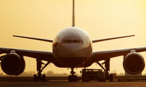 A grounded plane. The airport commission is due to report on plans for additional airport capacity in south-east England.