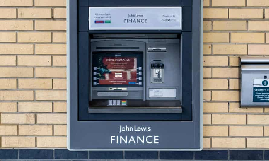 Getting money out of John Lewis Finance proved to be a problem.