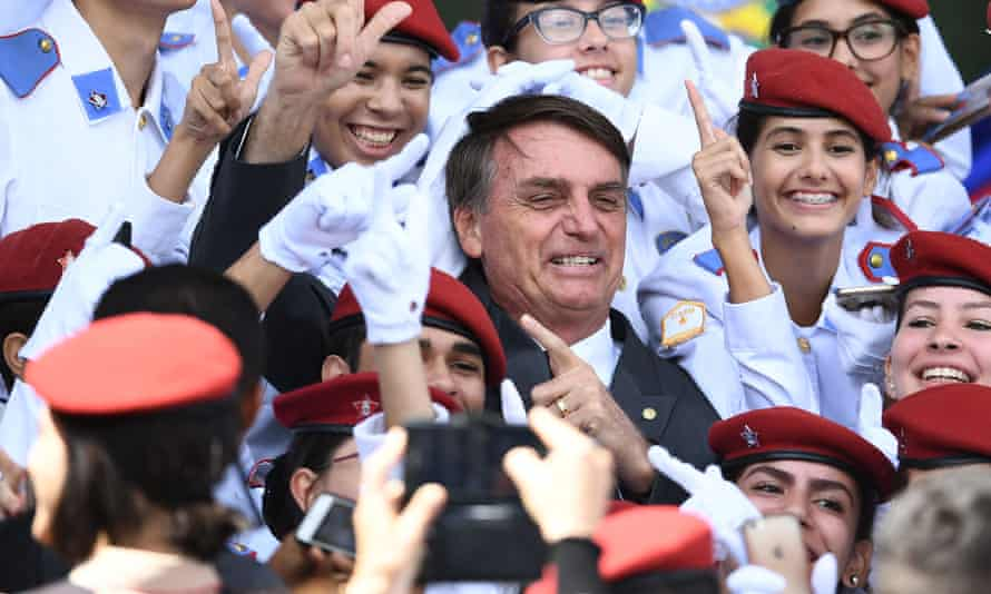 """During nearly three decades in congress, Bolsonaro has also hailed authoritarians. """"Yes, I'm in favour of a dictatorship,"""" he once said."""