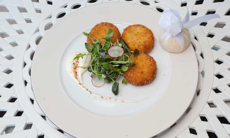 'Diminutive and with a rigid shell': crab cakes.
