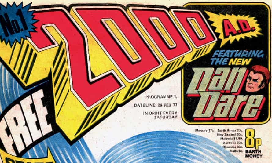 Blast off … the masthead of the first 2000AD.