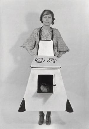 Hausfrauen-Kuchenschurze, 1975 by Birgit Jürgenssen.