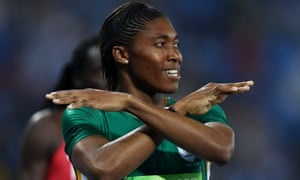 Caster Semenya brushes controversy off her shoulders after winning gold in the women's 800m in Rio.