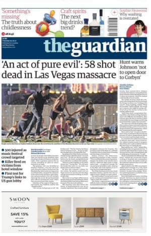 Guardian front page 3/10/17