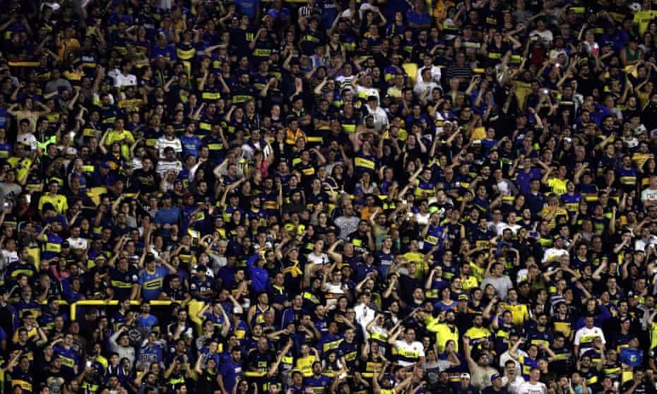 Boca Juniors fans at La Bombonera.