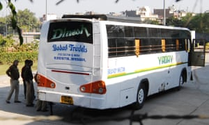 Police inspect the bus on which Jyoti Sinch was gang-raped