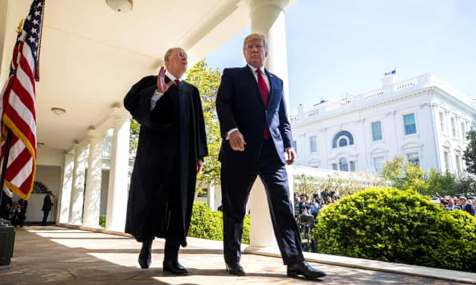 Donald Trump and Anthony Kennedy at the White House in April 2017.