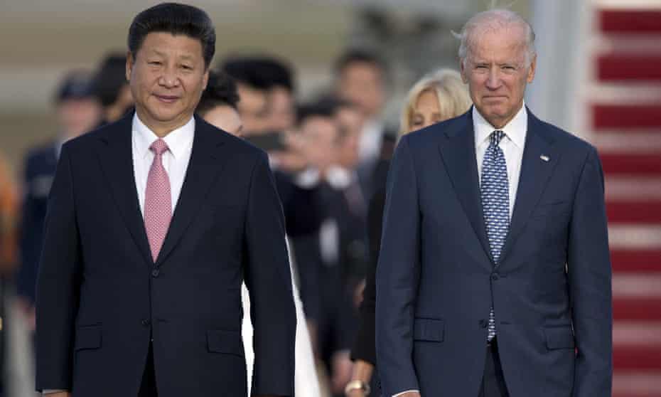 Xi Jinping with Joe Biden in 2015 when Biden was vide-president.