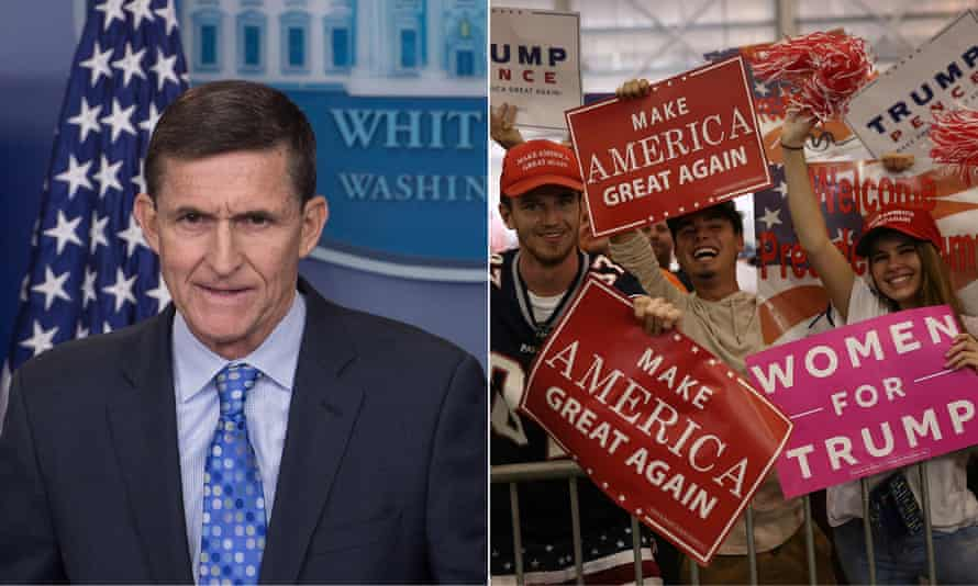 Michael Flynn and a Trump rally in Melbourne, Florida on 18 February 2017