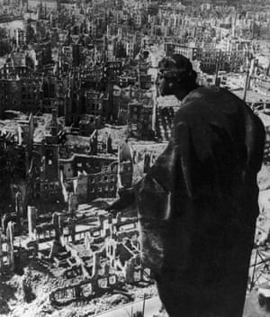 Loss … Dresden in ruins after Allied bombing raids in 1945.