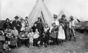 Boer families in a British internment camp at Eshowe, during the second Boer war, 1900.
