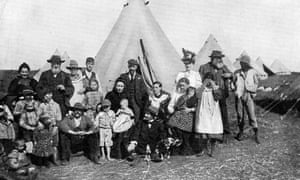 Boer families in a British concentration camp at Eshowe, Zululand, 2nd Boer War, 1900. This represented the first use of the internment of civilians in camps in wartime. (Photo by Ann Ronan Pictures/Print Collector/Getty Images)