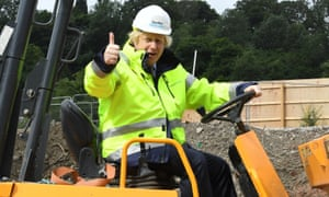 Boris Johnson on a visit to the Speller Metcalfe's building site at The Dudley Institute of Technology this week