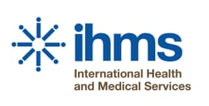 IHMS International Health and Medical Services logo.