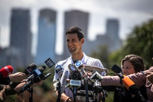 Melbourne, Australia: Novak Djokovic of Serbia speaks to the media the day after winning the men's singles final at the Australian Open grand slam tennis tournament