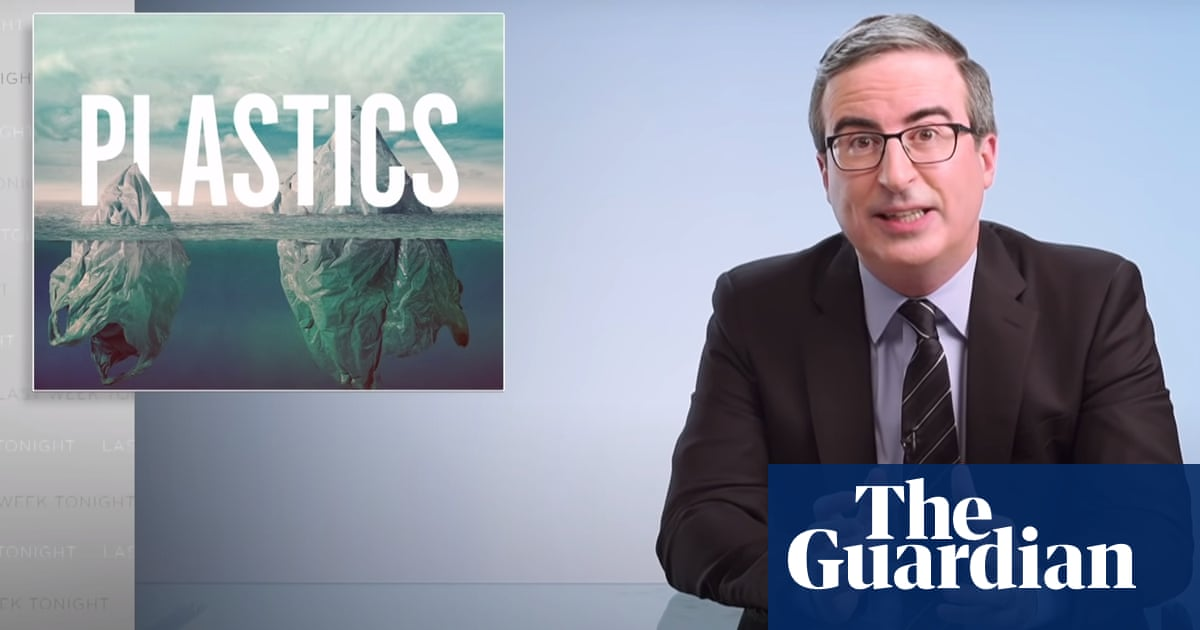 John Oliver on plastics pollution: 'Our personal behavior is not the main culprit'